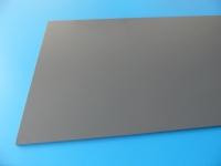 1 PVC Platte 495x495x2mm dunkelgrau