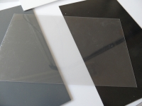 1 PVC Platte 990x120x0.4mm transparent